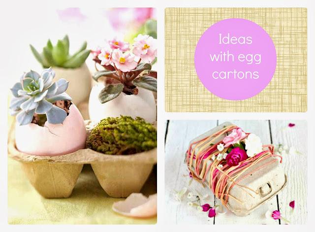 opakowania po jajkach diy