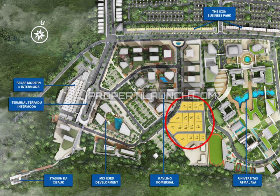 Site Plan Kavling Dormitory @ Intermoda BSD