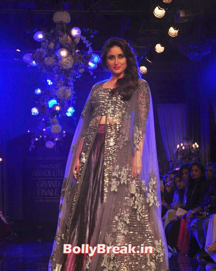 Kareena Kapoor Khan, Pics of Manish Malhotra Show at Lakme Fashion Week 2014