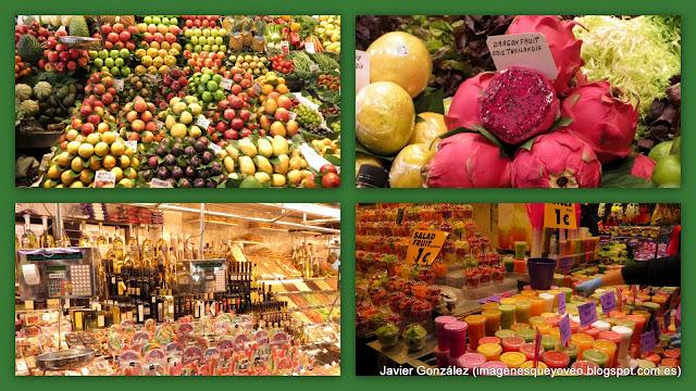 Mercado de la Boquería. Colores que se pueden comer y beber