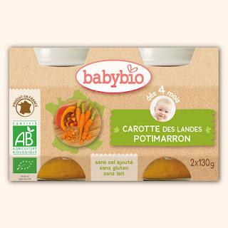 Petit pot pour bébé de légumes
