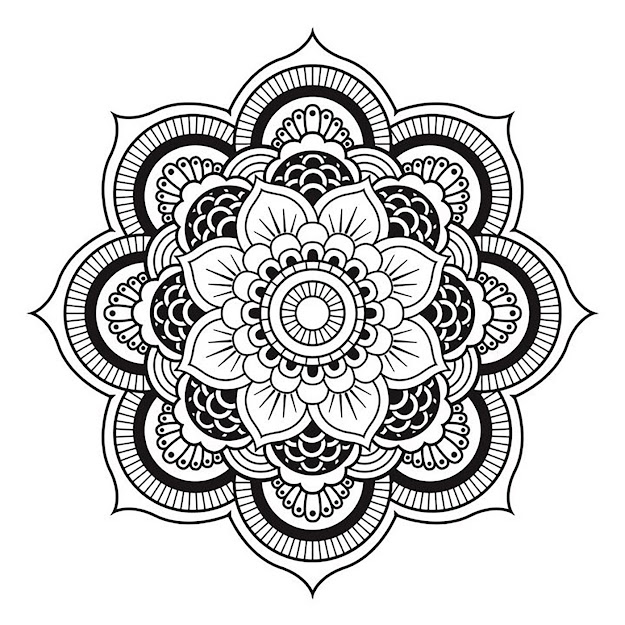 Simple Mandala Forming Unique Flower  From The Gallery  Mandalas