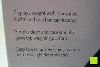 Info: Smart Weigh Digitale/Mechanische Leichtgewicht-Küchen- und Nahrungsmittelwaage mit LCD-Display und Zifferblatt, schwarz