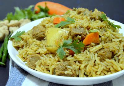Arabic Style Soya Chunks & Vegetable Pulao