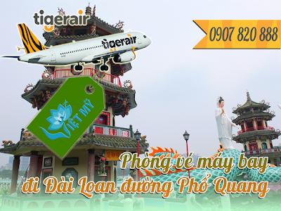 Phòng vé máy bay đi Đài Loan đường Phổ Quang