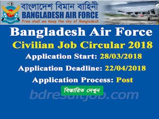 Bangladesh Air Force (BAF) Civilian Job Circular 2018