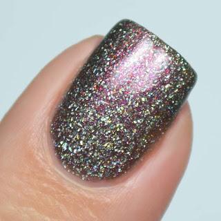 brown holo nail polish