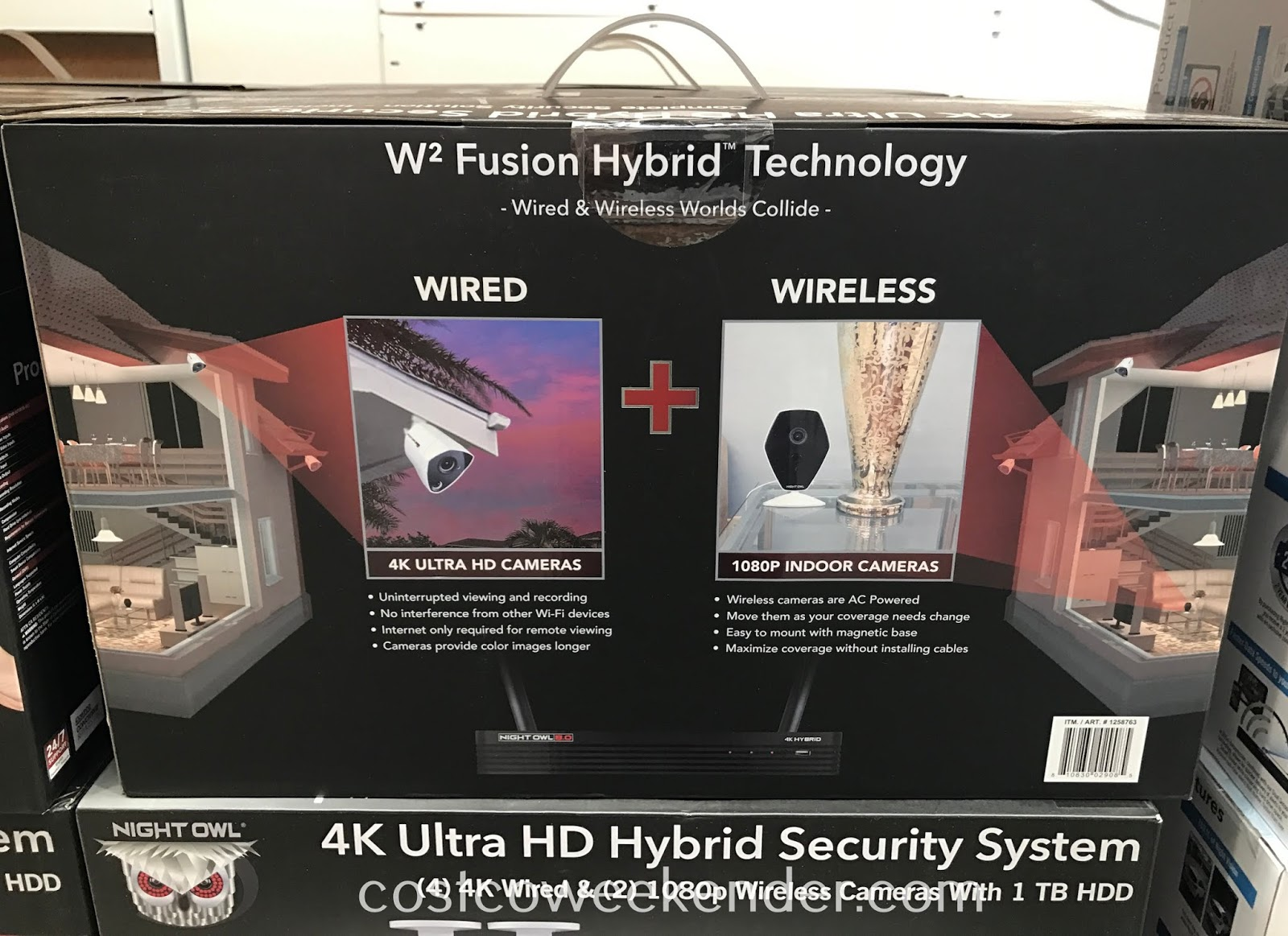 Costco 1258763 - Make your home and family safer with the Night Owl 4K Ultra HD Hybrid Security System