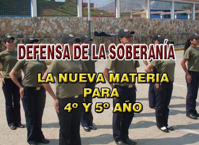 Estudiantes, nueva materia - Formación para defender la Soberanía Nacional