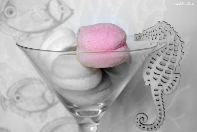 Marshmallows de litchi y fresa