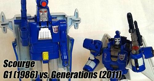 Transformers Scourge G1 vs. Generations bemutató