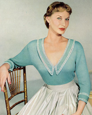 The Vintage Pattern Files : Free 1950's Knitting Pattern - The Evening Star Blouse