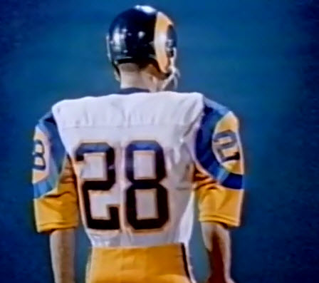 finest selection 98cec 3c16b The uniform the Rams ended up wearing in 1973 was very similar, in fact  exact, except that the trim around the numbers was removed from both  versions.