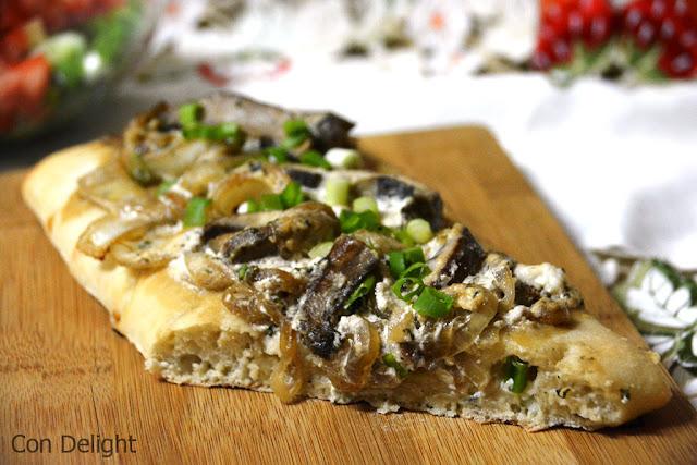 פוקאצ'ת בצל ופטריות onion mushroom focaccia