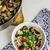 Reis-Gemüsepfanne mit Bratwurst in Frischkäsesauce -schnelle Feierabendküche