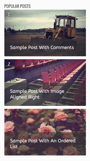 Ozura style popular post widget