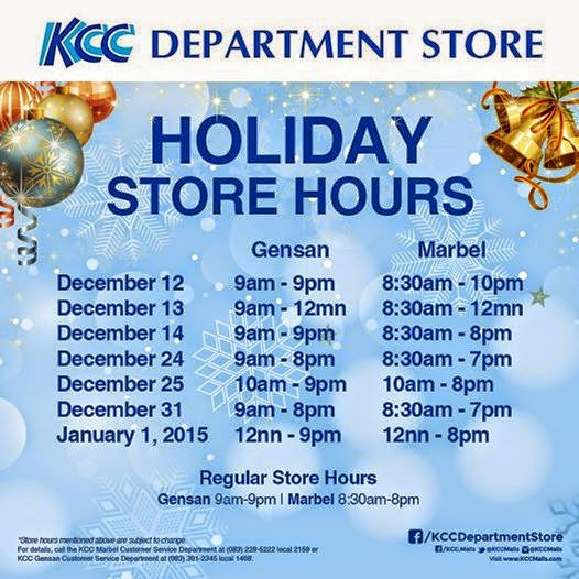 Christmas Holiday Mall Hours Schedule