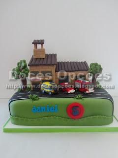 bolo decorado bombeiros