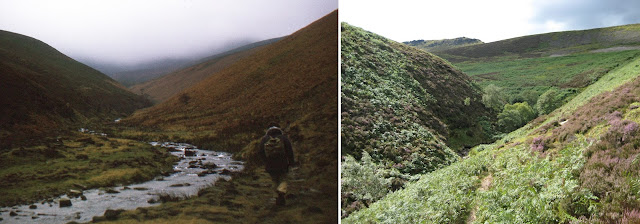 Ascent to Kinder Scout via Fair Brook, 1974 and 2007