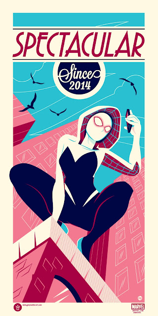 Spider-Gwen: Spectacular Since 2014 Marvel Screen Print by Dave Perillo x Grey Matter Art