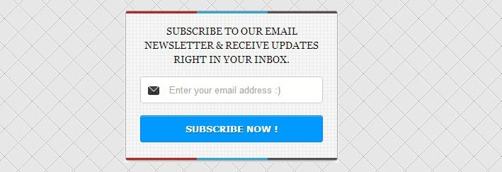 Stylish & Reponsive Blogger Newsletter Email Subscription Widgets