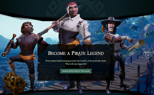 Sea of Thieves Rare Ltd. become a pirate legend website character designs freedom life