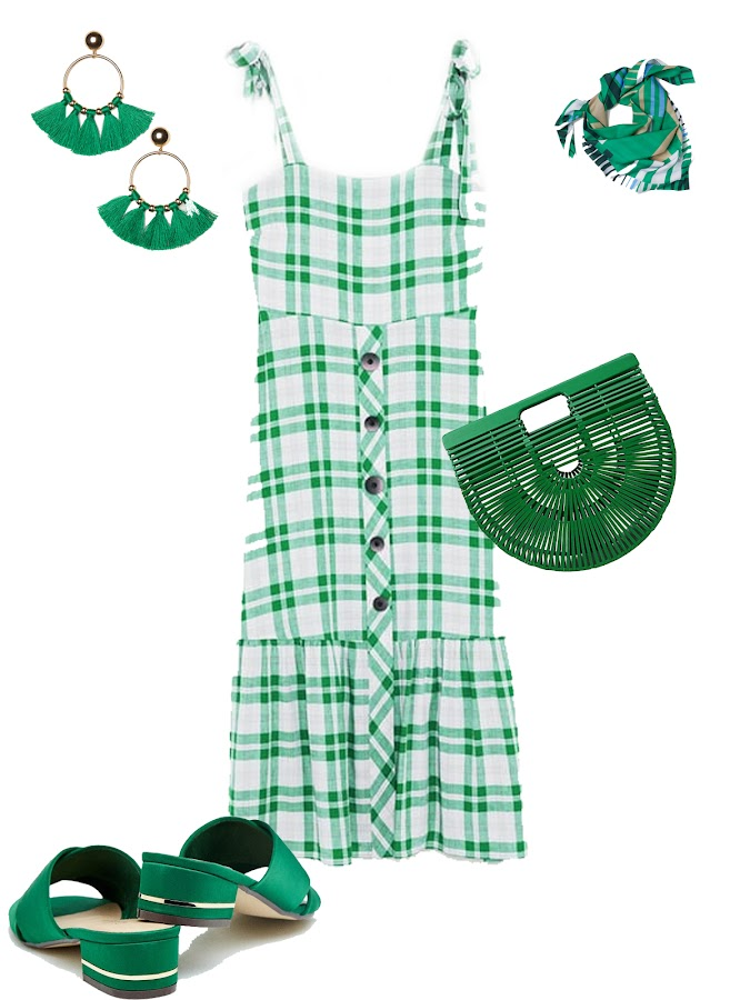 Green summer outfit