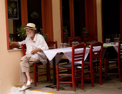 image of a man in Plaka, Athens