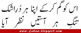Us Ko Gum Karky Apna Har Dur-e-Ashk Tang-e-Har Aasteen Nazar Aya
