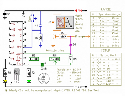 ONOFF 24 HOURS TIMER CIRCUIT SCHEMATIC DIAGRAM | Wiring Diagram