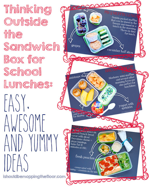 Several awesome ideas for making healthy school lunches without sandwiches. And free Lunch Love Notes printable included!