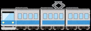 電車のイラスト(水色)