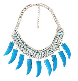 forever 21 horn fringe necklace