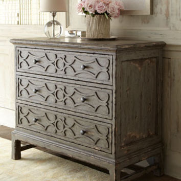 Horchows Gray Three Drawer Chest