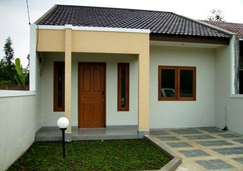 Teras rumah minimalis sederhana type 45