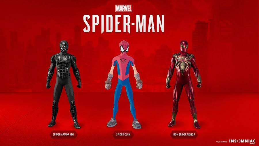 spider man ps4 dlc new suits