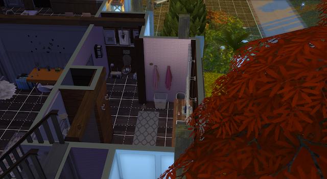 baño de una casa en los sims 4