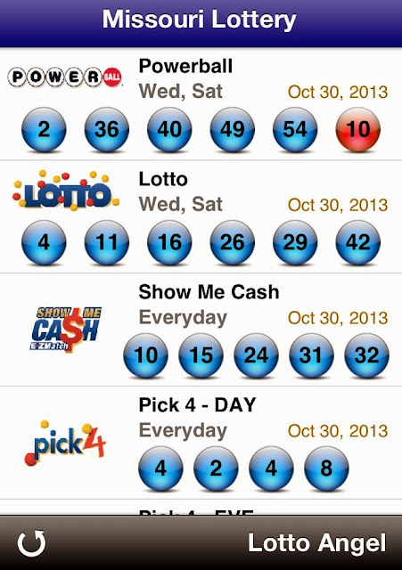 USA Missouri Lottery Results (Oct 30, 2013)