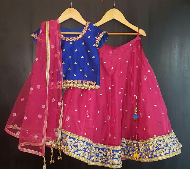 Simple Mirror Lehenga