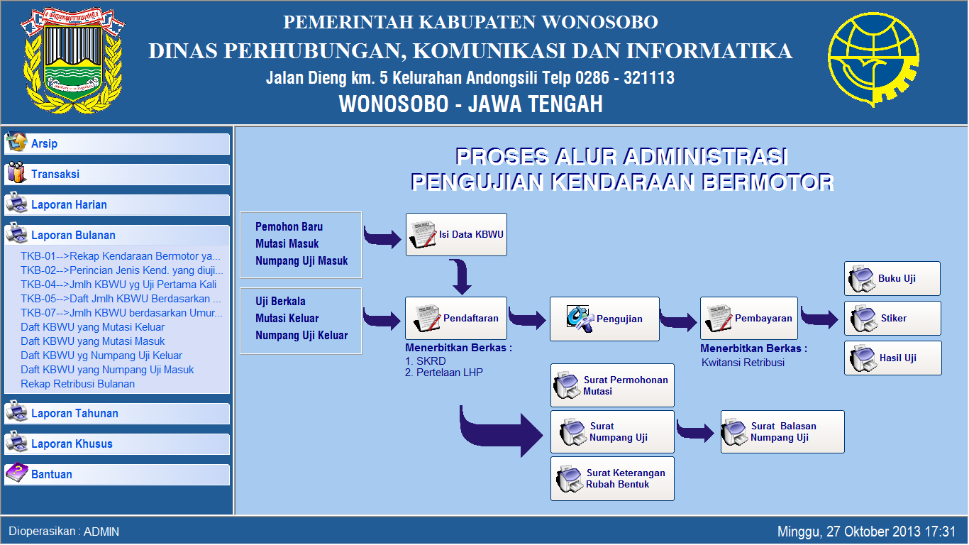 APLIKASI - SIMPKB (Aplikasi Untuk Dinas Perhubungan)