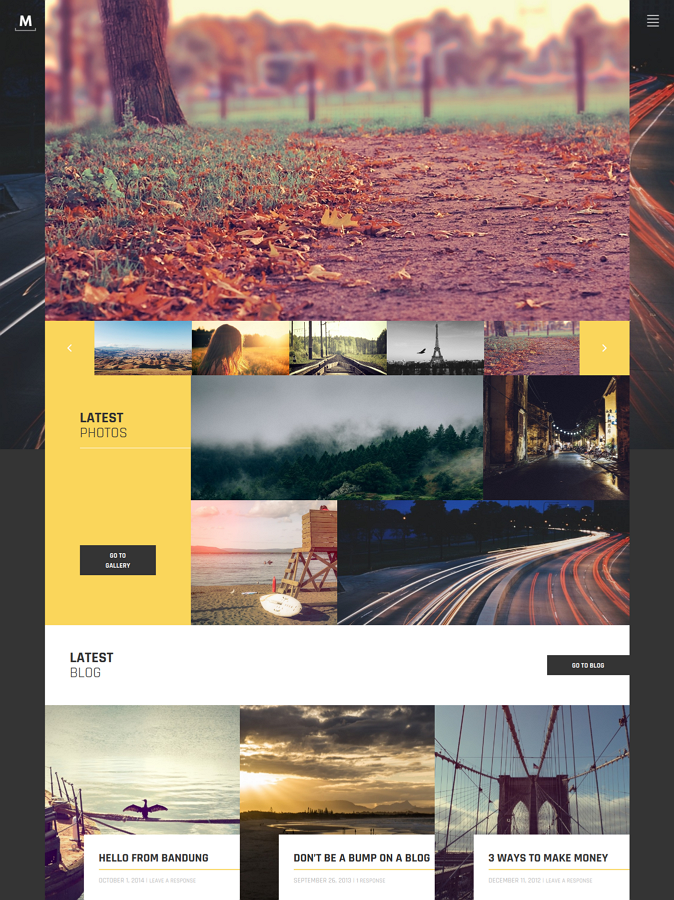 Free Portfolio Photography Theme