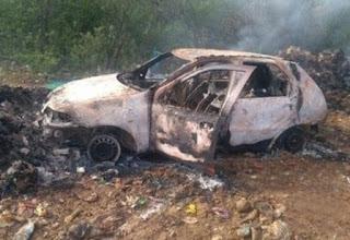 Paraibano foragido da Justiça é achado carbonizado dentro de carro no RN