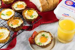 Spaghetti Squash Egg Nests #healthyfood #dietketo