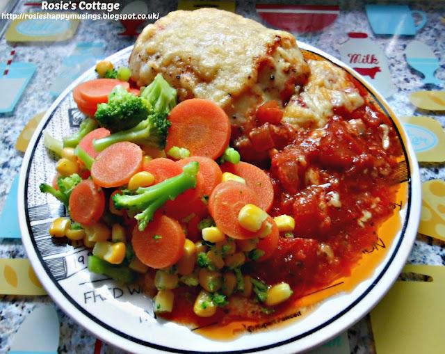 Baked Chicken Breast In Tomato, Garlic & Onion Sauce.... yummy!