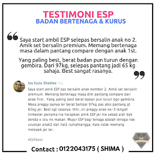 Testimoni ESP Untuk Ibu Hamil Dan Menyusu