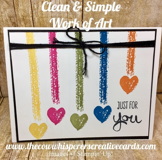 Card, Work of Art, Clean & Simple, Stampin UP