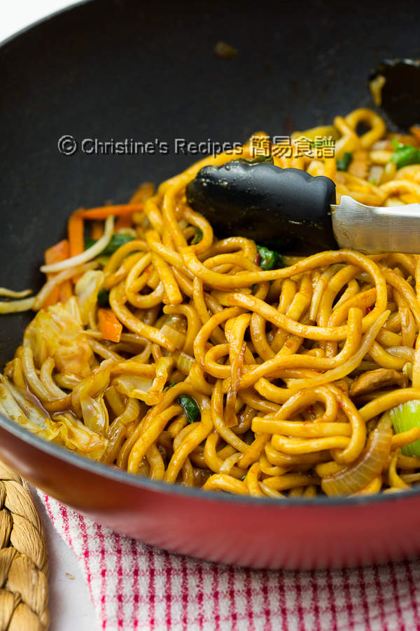 Spicy Pork Ramen Noodles Stir-Fry02