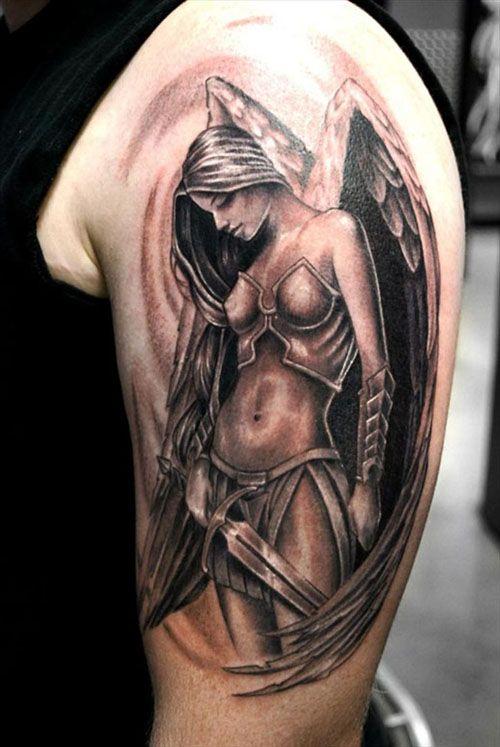 75 Tatuajes De Angeles De La Guarda Y Su Significado Belagoria