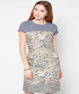 gambar dress batik pendek