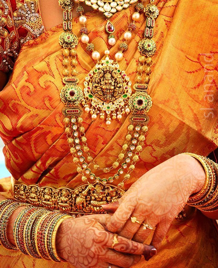Bride In Temple Jewelry Designs Jewellery Designs